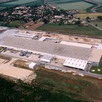 gödi Samsung gyár felülnézetben