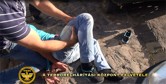 váci rendőr elfogása - TEK-videó-530