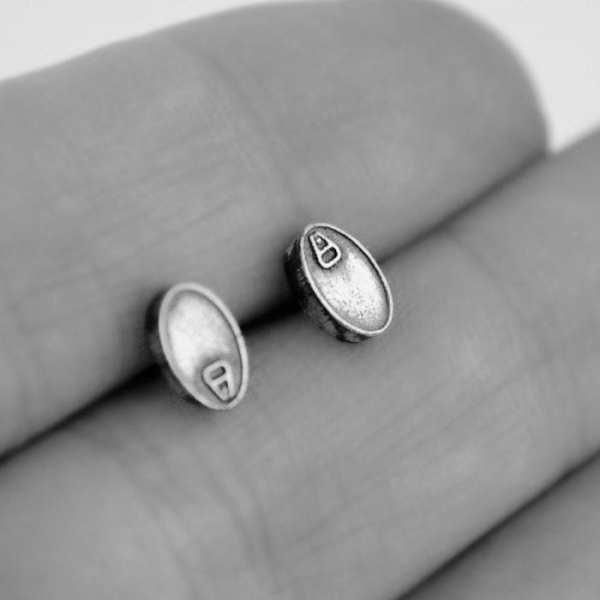Pendientes de Plata, Lata de Sardinas Mini