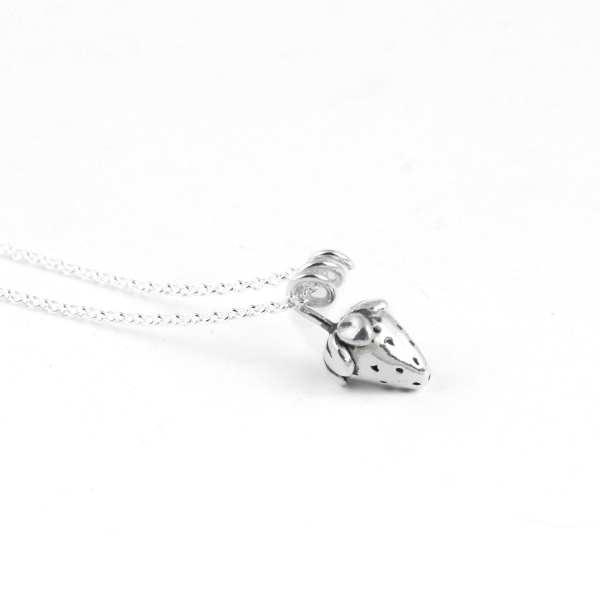 Silver Choker Necklace, Strawberry
