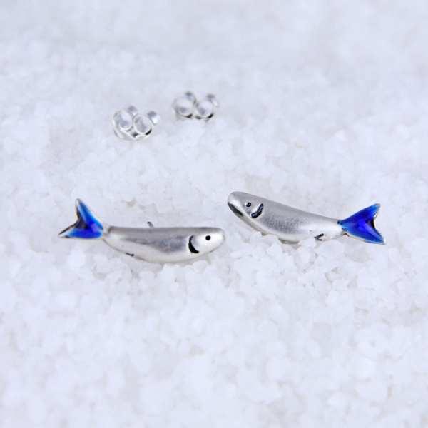 Silver Earrings – Sardines