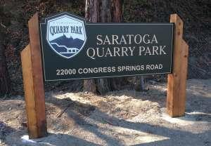 Saratoga park entrance sign