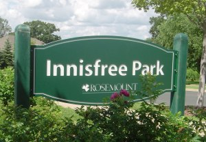 Innisfree Park Routed Plastic Sign