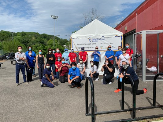 Neighborhood Health Staff and Volunteers for COVID-19 testing event
