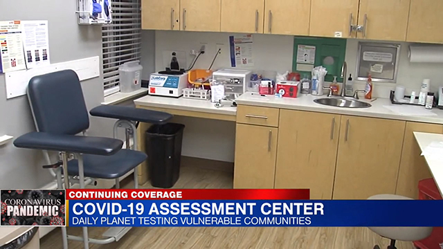 screenshot of news segment of daily planet health services