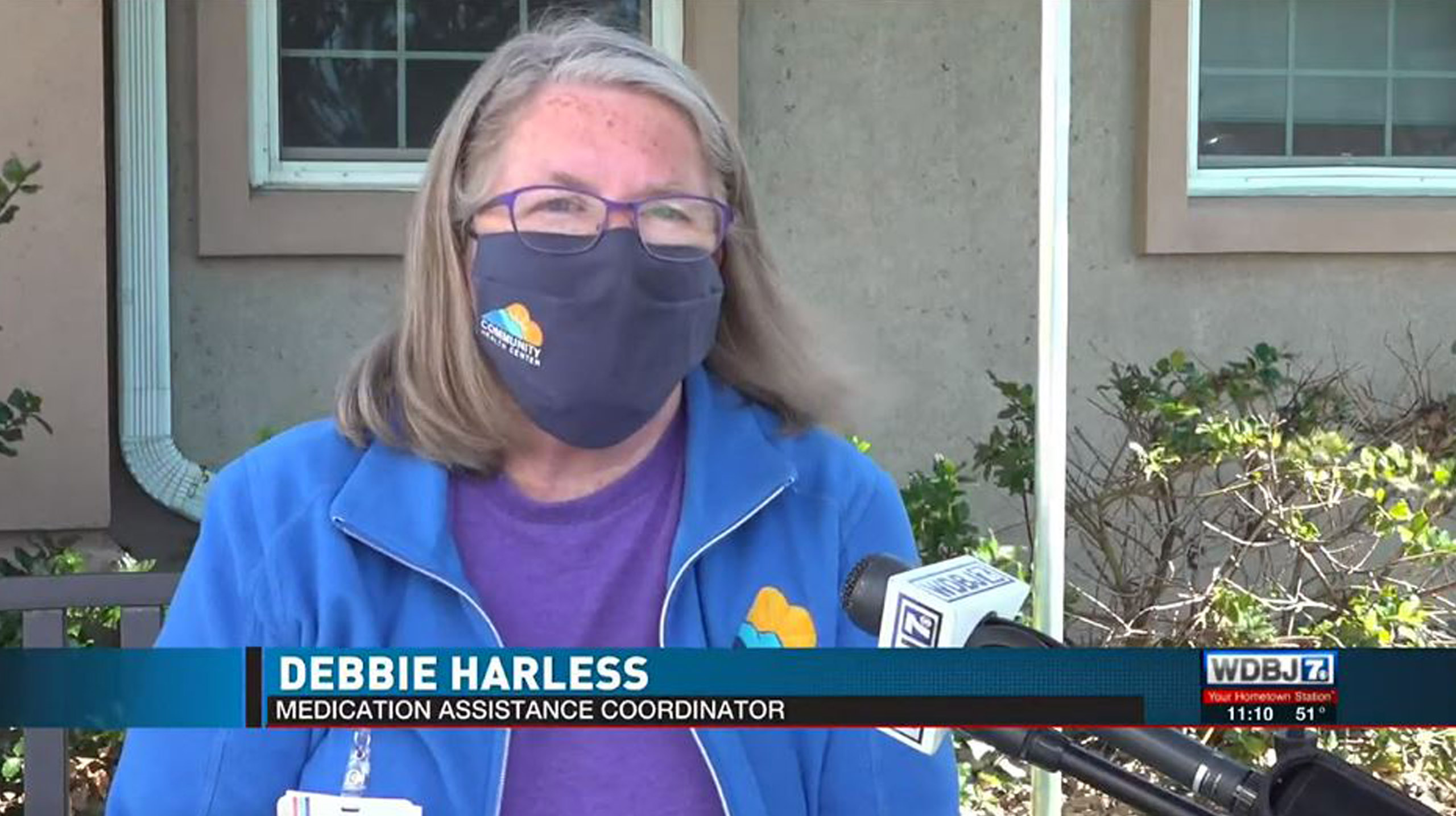 Screenshot from news interview with Debbie Harless from Community Health Center of the New RIver Valley