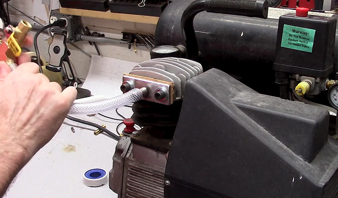 How to Make a Vacuum Pump with an Air Compressor FI