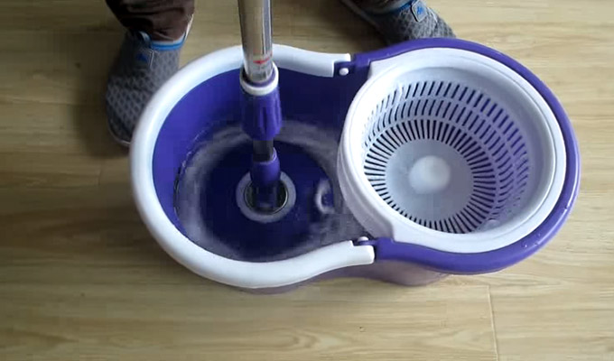 Using spin mop without pedal
