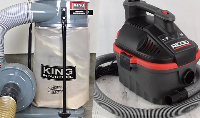 What makes Dust Collector and Shop-Vac Different?