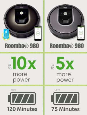 iRobot Roomba 980 vs 960