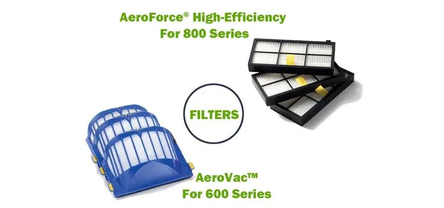 600 AeroVac Filter VS 800 AeroForce High Efficiency Filters