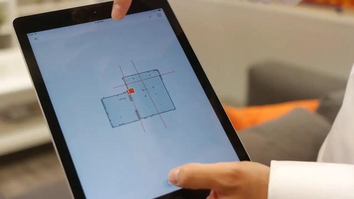 Neato app on tablet