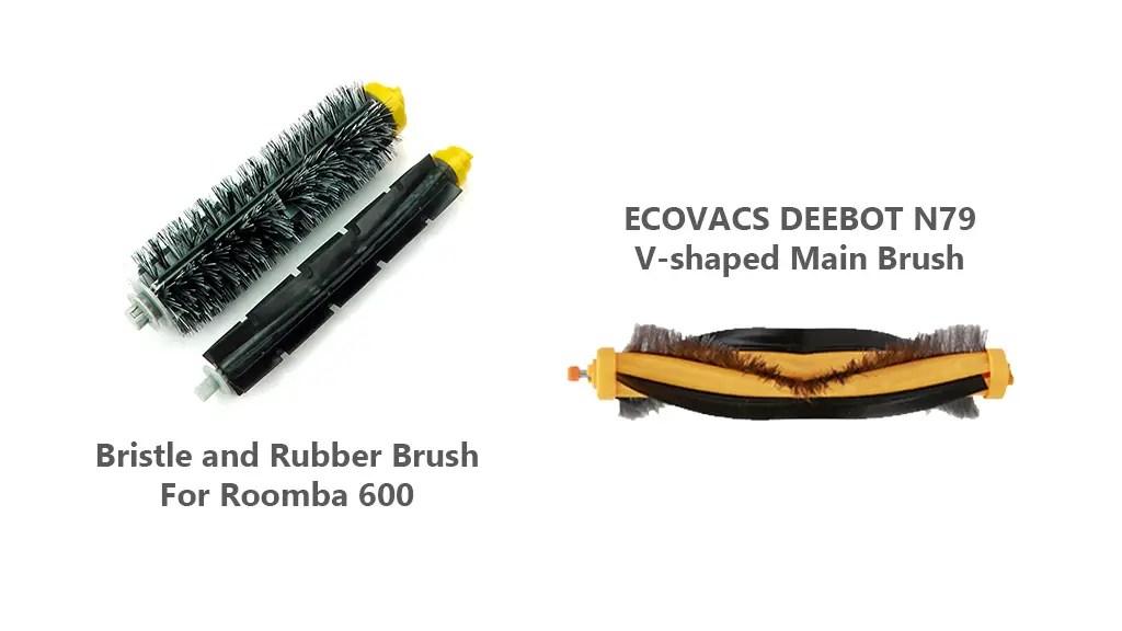 EcoVac Deebot N79 vs iRobot Roomba 690 Brush