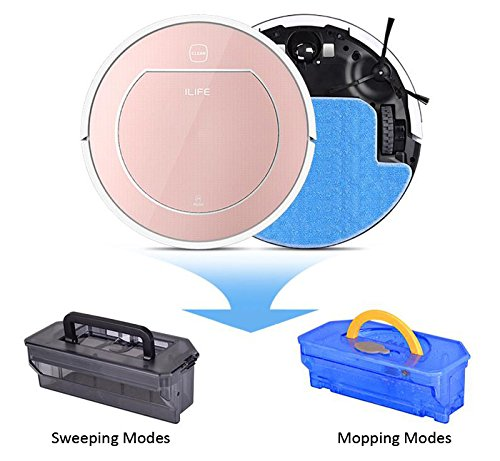 ILIFE V7s Robot Vacuum Cleaner Mop and Dry Clean Top and Bottom Swepeping and Mopping