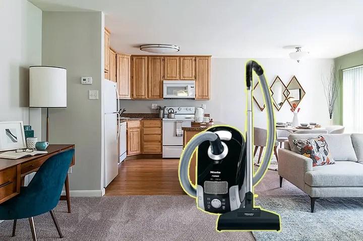 vacuuming apartment Living room