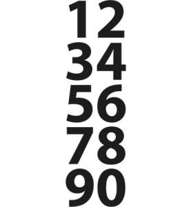 cr1282 Mini numbers