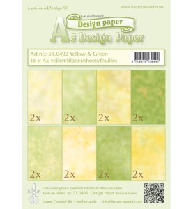 lcr51.0492 Design Paper - Yellow-green