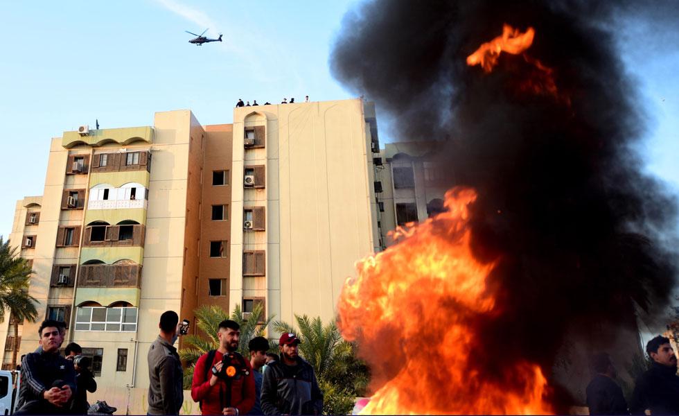 Impactan proyectiles cerca de embajada de EE.UU. en Irak
