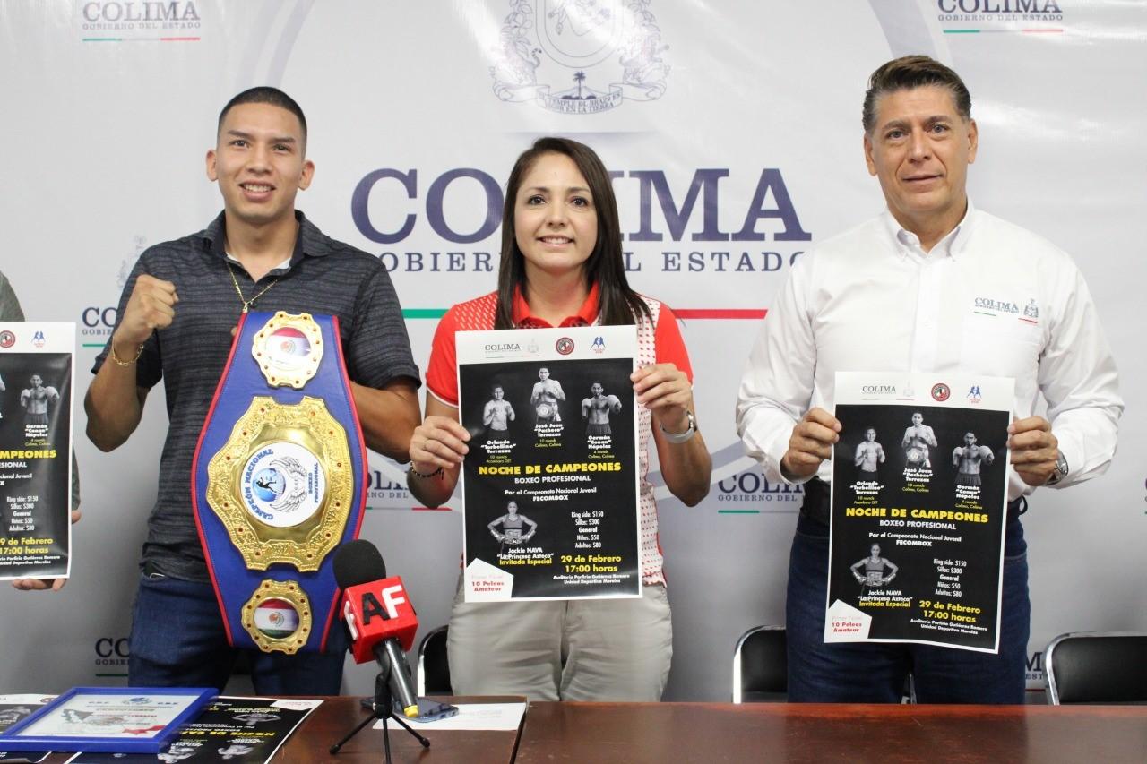 Anuncian Noche de Campeones del Boxeo Profesional en Colima: Incode
