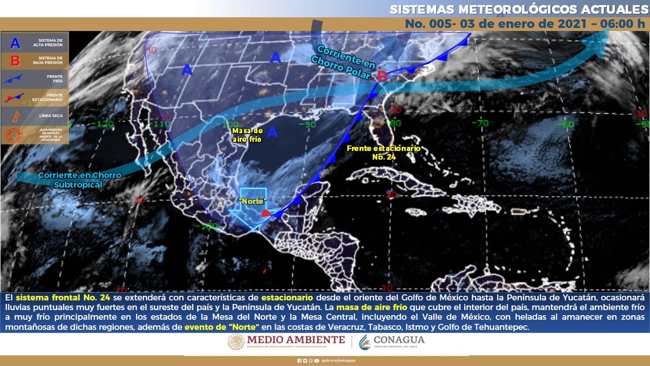 Prevalecerá el ambiente frío en Colima