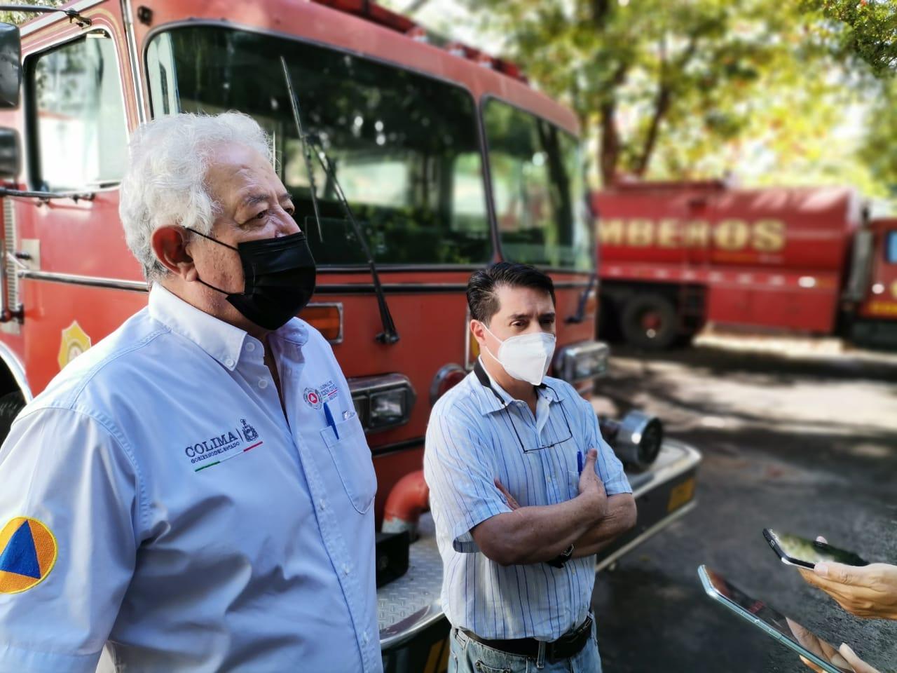 Bomberos Colima pide se retire el plantón en la ex zona militar afectan la efectividad del servicio prestado