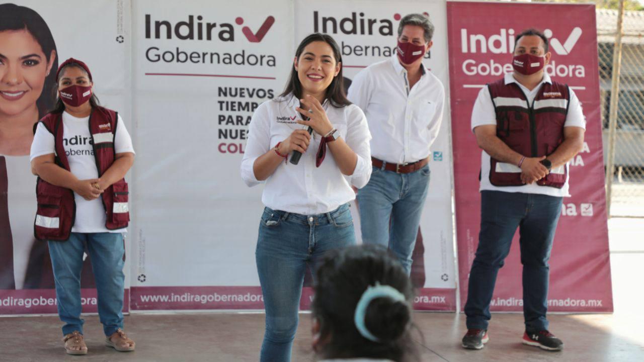 Indira: vamos en unidad por la transformación de Colima