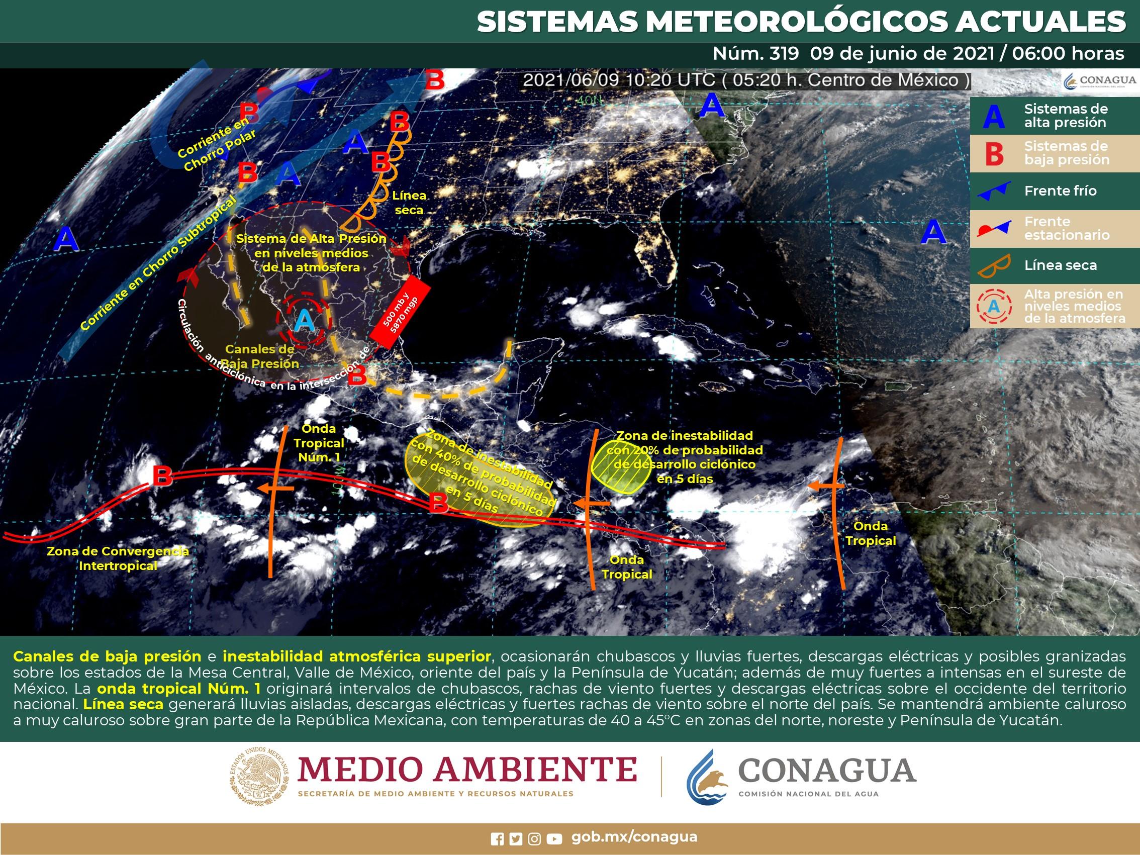 Cielo nublado con intervalos de chubascos en Colima: SMN