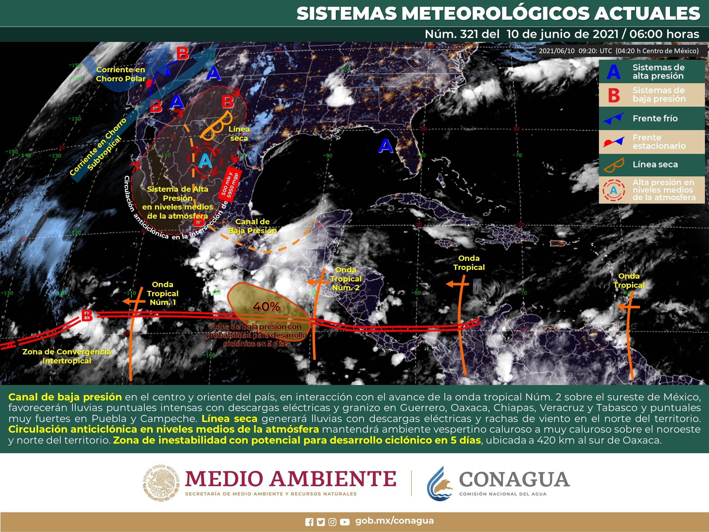 Pronostica SMN intervalos de chubascos en Colima