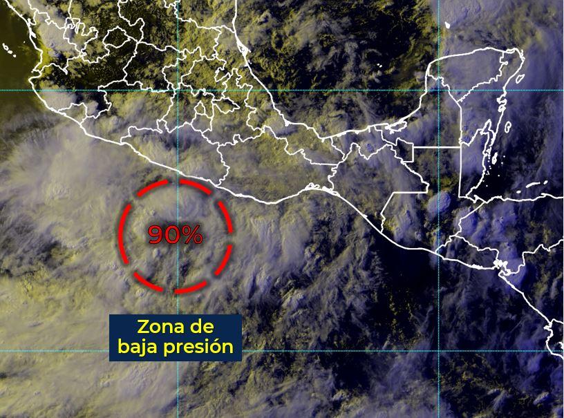 Zona de baja presión podría convertirse en ciclón tropical; generaría lluvias fuertes en Colima: SMN