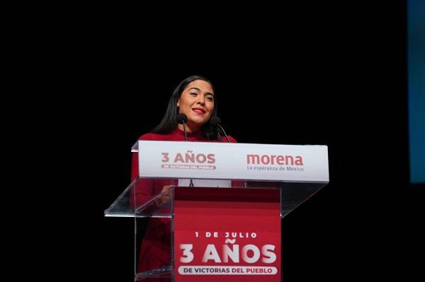 El triunfo es del pueblo, a tres años de ser gobierno, Morena impulsa la verdadera transformación: Indira Vizcaíno