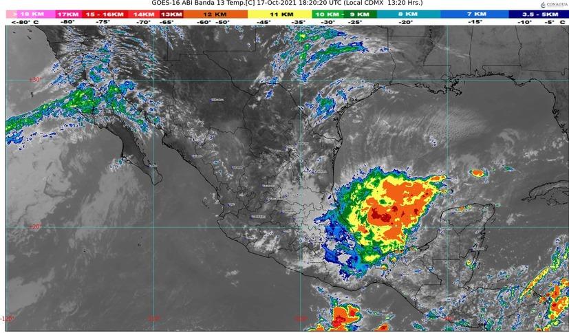 Se pronostican lluvias fuertes durante la tarde-noche en Colima