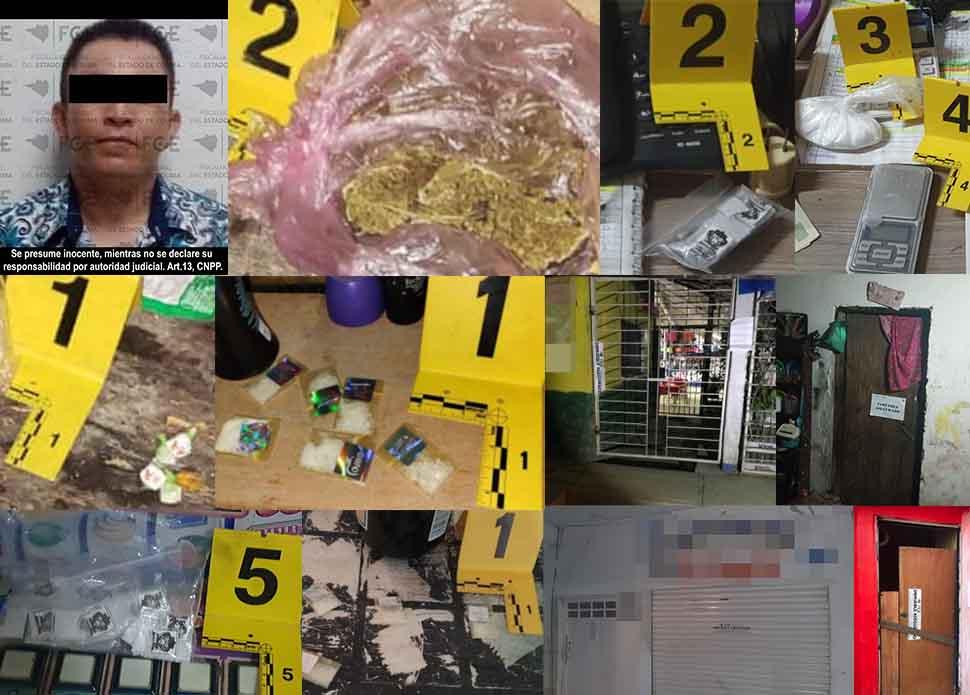 Drogas e inmuebles decomisados en cateos; hay un detenido