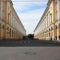 Saint-Pétersbourg, la rue Rossi