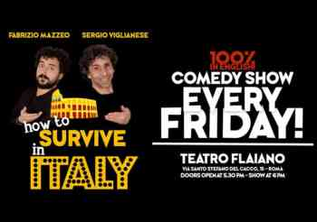 """""""How to survive in Italy"""": the not-to-miss Friday Night Comedy Show"""