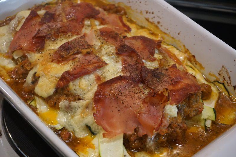Båtmat #44: Lasagne med squashpasta, manchego og serranoskinke