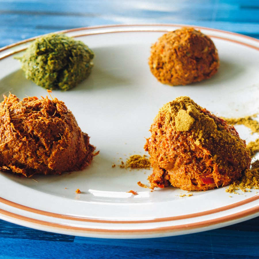 Bêtement, je pensais que le curry était une épice en soi, mais j'ai appris que c'était en fait un mélange d'épices et que chaque curry est different: y'en a du vert, du rouge, du panang, du massaman… il peut etre plus ou moins épicé, plus ou moins poivré ou sucré et donnera des recettes différentes.
