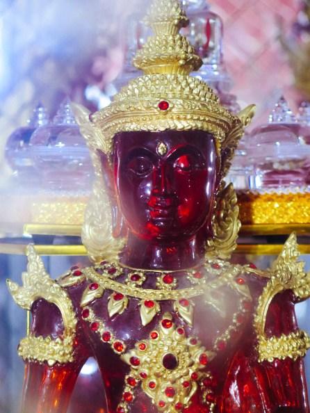 Buddha image made of Rubies