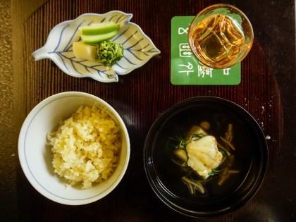 Perche et riz au gingembre