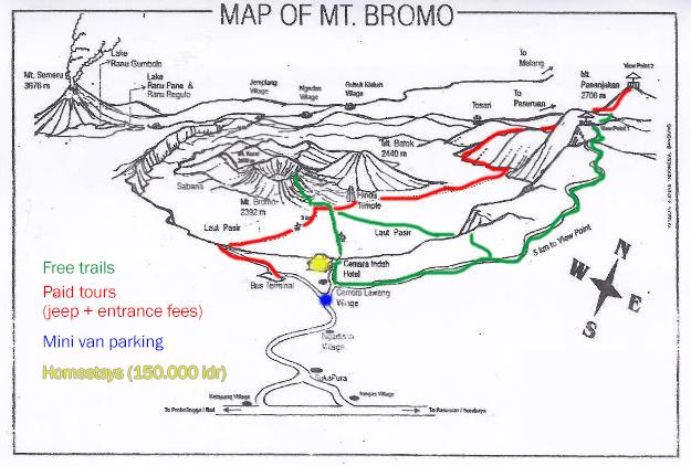 Mount Bromo Map