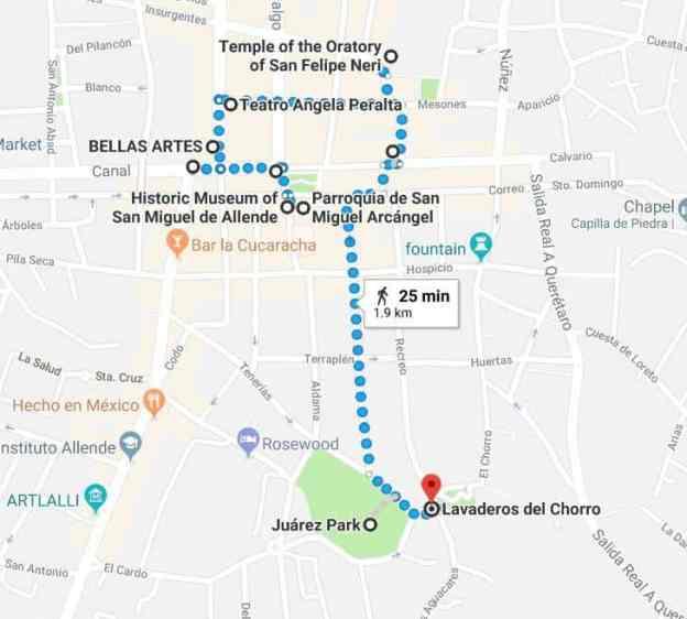 San Miguel de Allende Best Things to Do - Vagabond Buddha on rio de janeiro map, rincon de guayabitos map, ixtapan de la sal map, queretaro map, real de catorce map, puerto vallarta map, ixtapa zihuatanejo map, hermosillo map, segovia spain on a map, mexico map, puebla on map, latin america map, chichen itza map, morelia map, cozumel map, san miguel county nm map, antigua guatemala map, buenos aires map, isla mujeres map, san cristobal de las casas map,