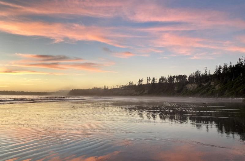 Coucher de soleil à Florencia Bay, Ucluelet