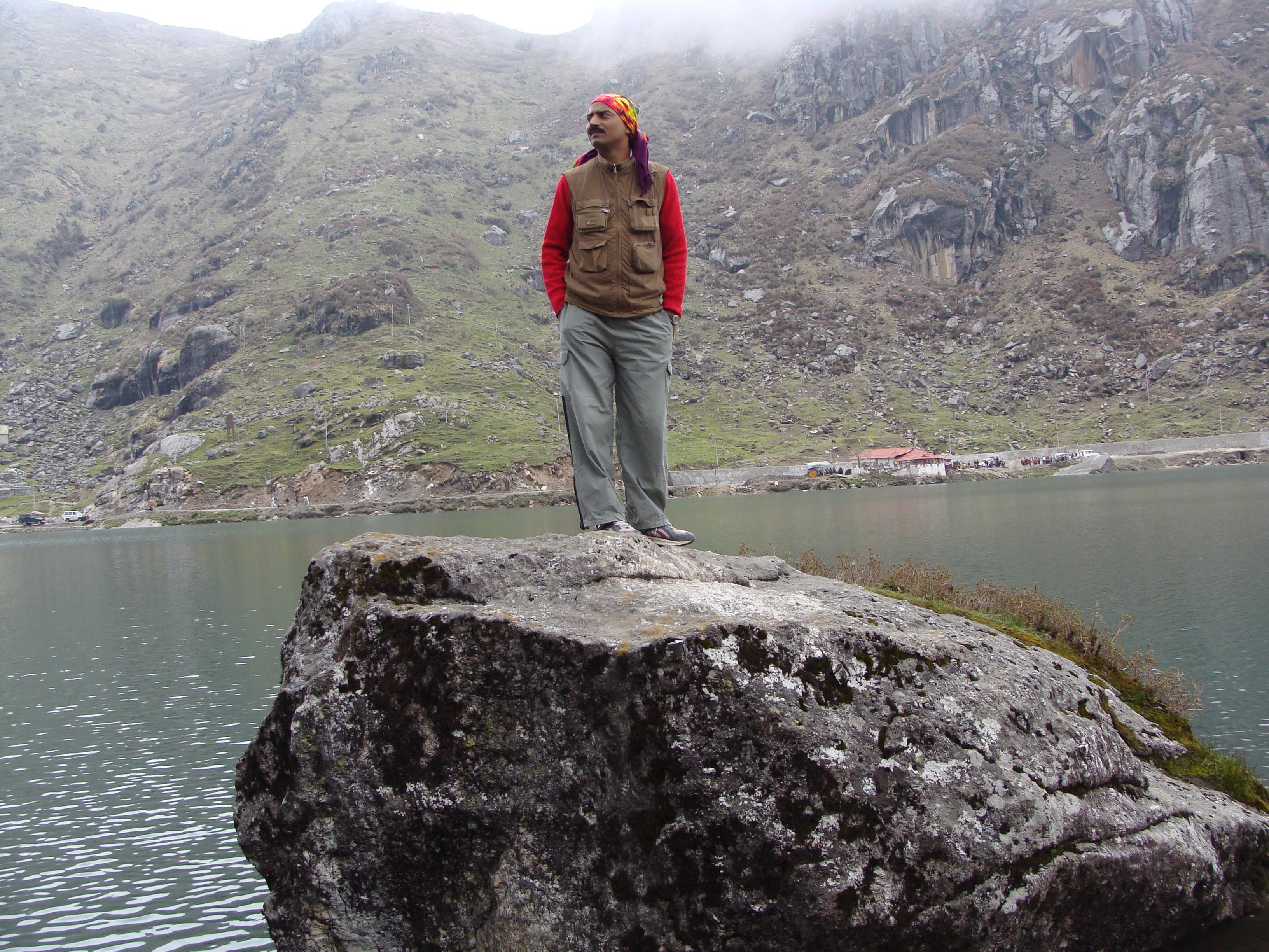 Height (12300 ft.) of Tsomgo lake