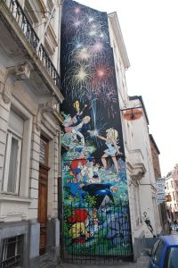 Comics on walls, Brussels