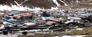 This was what once used to be Kedarnath township. You can see the temple in the centre right half of the picture.