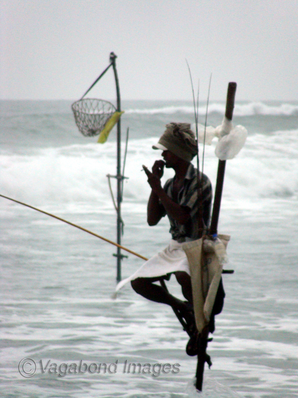 Tilit fishermen at Kandy in Sri Lanka