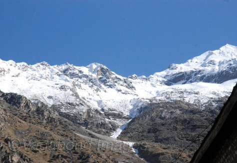 Snow clad mountains at Chitkul in Kinnaur Valley