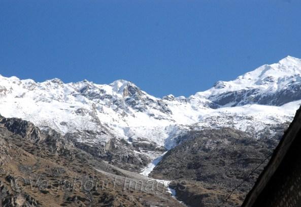 Snow clad mountains at Chitkul in Kinnaur Valley