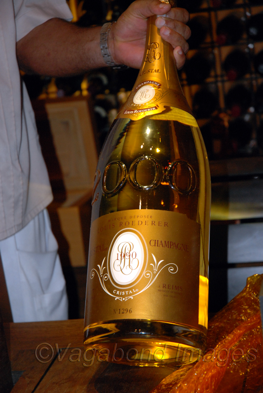 They said there were only a dozen of these bottles worldwide, each of them worth 25K $. Unbelievable!
