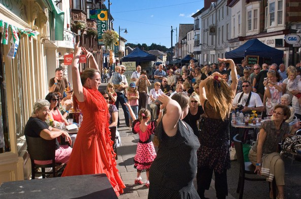 Belly dancers at Abergavenny Food Festival. © Crown copyright (2013) Visit Wales