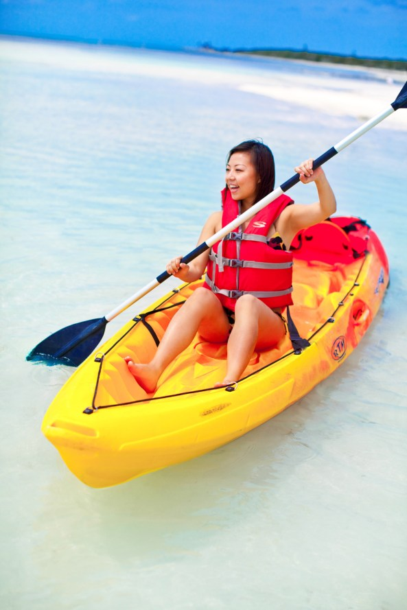 Kayaking at Cococay beach. Photo: Celebrity cruises